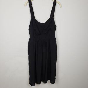 TORRID black smocked sun dress size 1X